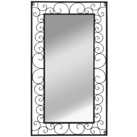Specchio da Parete Rettangolare 60x110 cm Nero -