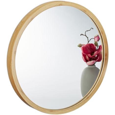 Specchio Tondo Da Parete.Specchio Da Parete Rotondo Da Appendere Per Bagno Ingresso