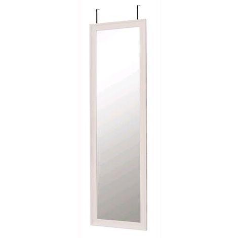 Ganci Da Porta.Specchio Da Porta Con 2 Ganci Cm 36x2x136h Colore Bianco