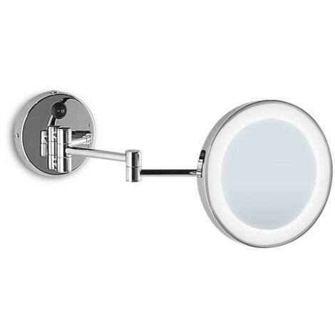 Specchi Ingranditori Da Parete.Specchio Ingranditore Da Bagno A Parete Illuminato Led Con Sabbiatura