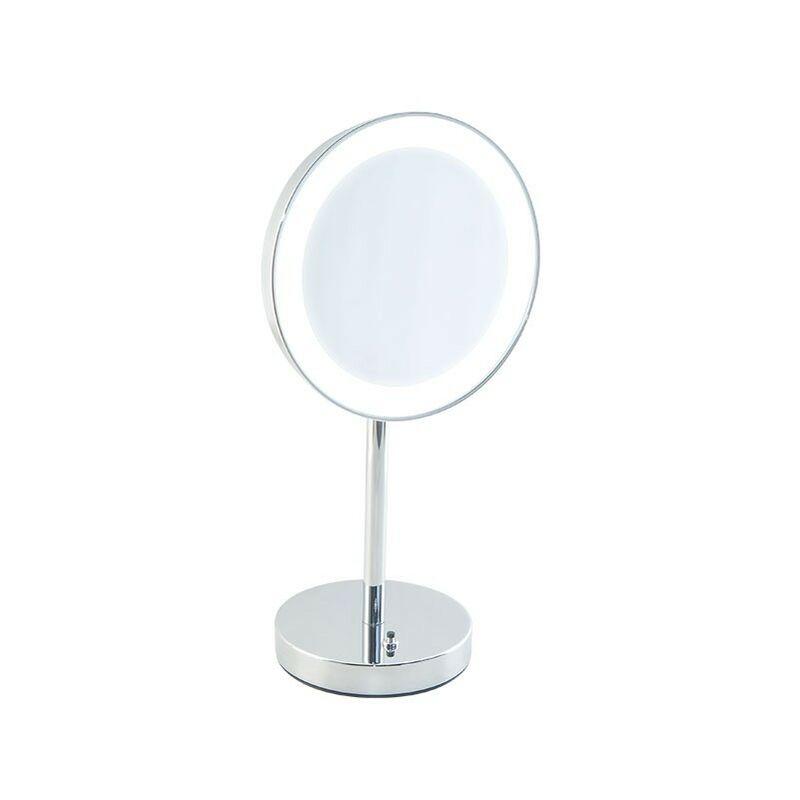 Specchi Ingranditori Per Bagno Con Luce.Specchio Ingranditore Da Bagno Con Luce Led Batteria Da Appoggio