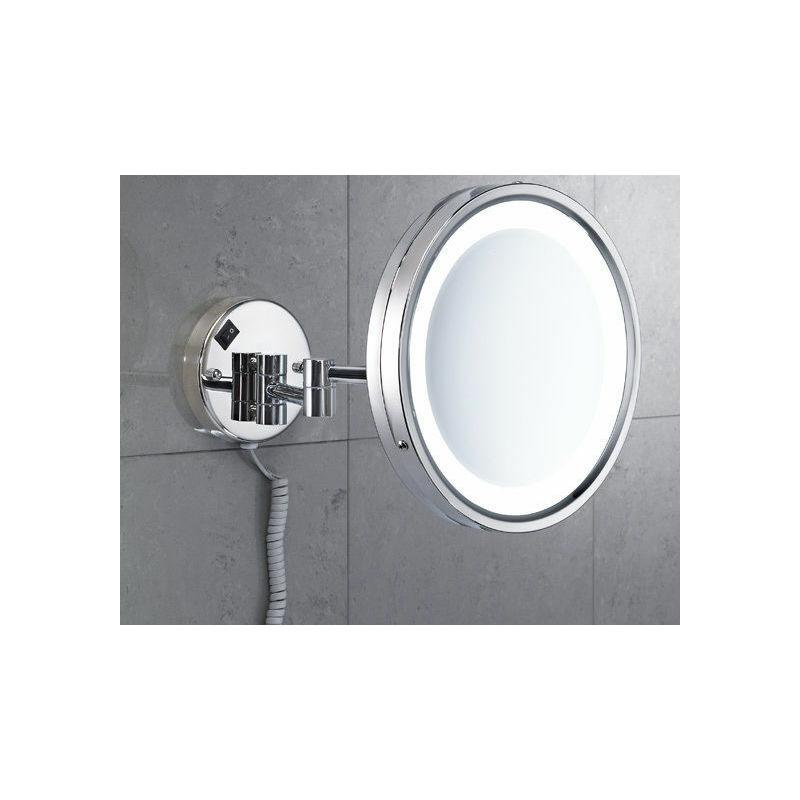 Specchio ingranditore vincent da parete con led gedy bagno cod