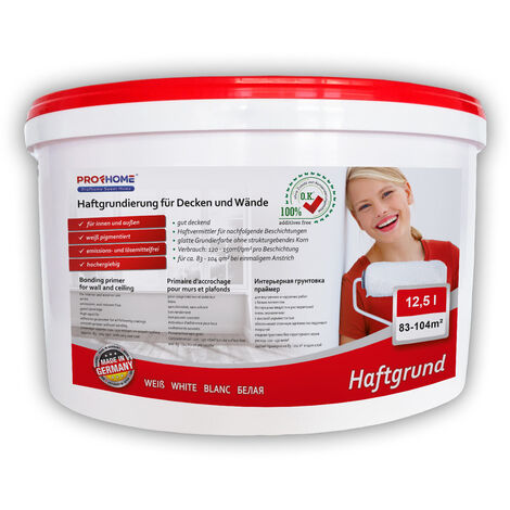Special adhesion promoter PROFHOME ELF primer for interior walls and heavyweight wallpaper white 12.5 ltr for max 60 sqm