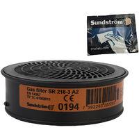 Special Edition: 4 x Sundström Gasfilter SR 218 A2 H02-2012 mit gratis Aufbewahrungsbeutel und Reinigungstuch