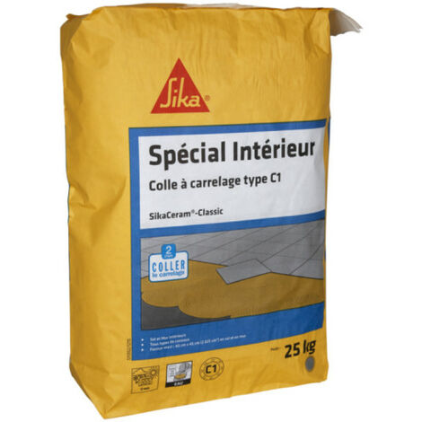 Special indoor tile adhesive new (C1) - SIKA SikaCeram Classic - Grey - 25kg