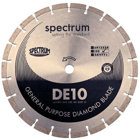 Spectrum DE10-230/22 STANDARD General Purpose 230mm Diamond Disc Blade