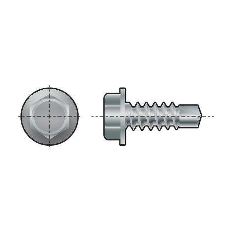 Spedec Self-Drilling Hexagon Head Screw Washer Faced Steel Zinc Plated DIN 7504 K
