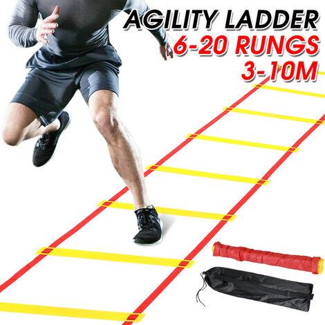 Speed Agility Ladder Escalera de entrenamiento físico Fútbol Deportes Footwork Practice (3m 6 peldaños)