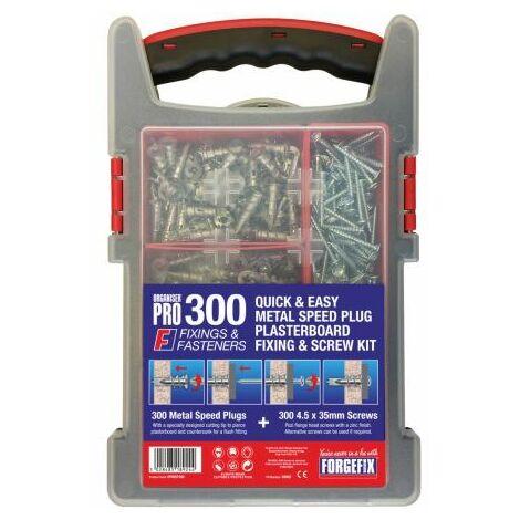Speed Plug Zinc Plasterboard Fixing Kit 300 Piece (FOROPMSP300)