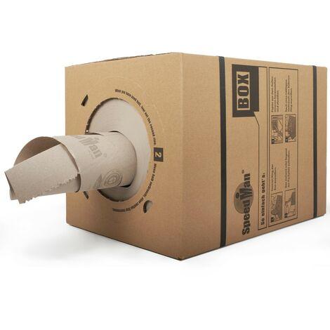 SpeedMan Box Endlos Packpapier Schrenzpapier Spenderbox 450 m 70 g/m2