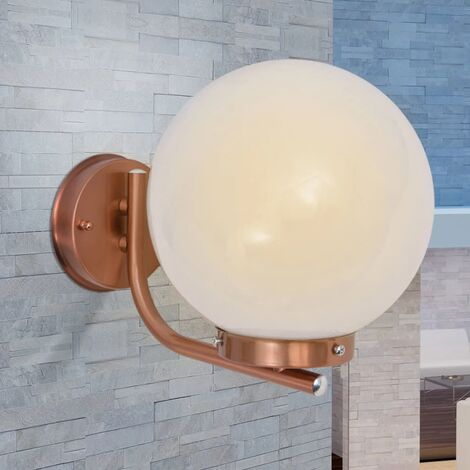 Sphere Outdoor Wall Light Stainless Steel Copper