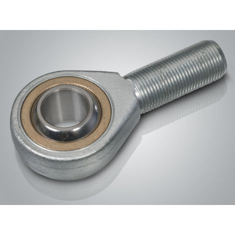 Spherical plain bearing rod end with external thread type SA