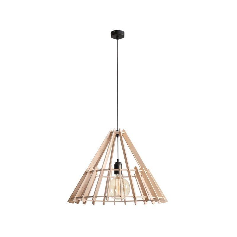 Homemania - Spica Haengelampe - Kronleuchter - Deckenkronleuchter - Schwarz aus Holz, 100 x 53 x 100 cm, 1 x E27, Max 60W