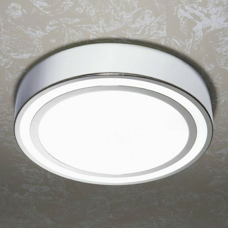 Image of Spice Circular Chrome Ceiling Light with Chrome Detail - HIB