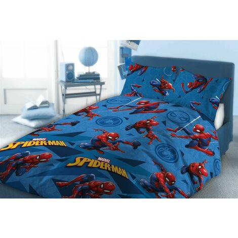 "main image of ""Spiderman Double Duvet Cover Set, Children's Bedding Sets, Official Marvel Comics"""