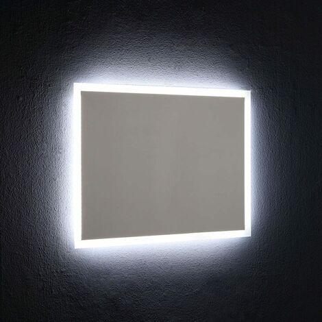 SPIEGEL MIT HINTERLEUCHTETEM LED-RAHMEN 80X60 CM UMKEHRBAR