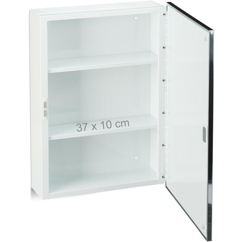 Spiegelschrank Bad, Hängeschrank, eintüriger Wandschrank aus Stahl ...