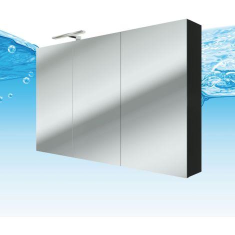 Spiegelschrank Badspiegel Badezimmer Spiegel City 120cm Esche schwarz