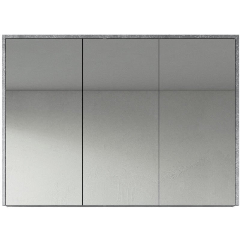 Spiegelschrank Cuba 100cm F.ash - Schrank Spiegelschrank Spiegel Badezimmer Badmöbel Set Hängeschrank Badschrank - BADPLAATS
