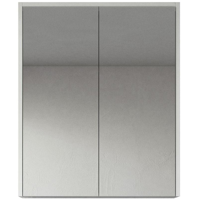 Spiegelschrank Cuba 60cm Hochglanz weiß - Schrank Spiegelschrank Spiegel Badezimmer Badmöbel Set Hängeschrank Badschrank - BADPLAATS