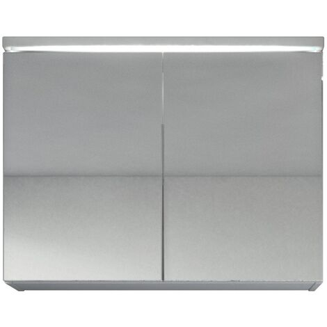 Spiegelschrank Paso 80 cm Weiß - Schrank Spiegelschrank Spiegel Badezimmer  Badmöbel Set Hängeschrank