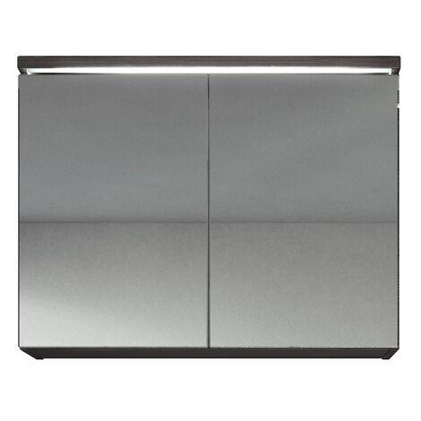 Spiegelschrank Paso 80cm Bodega (Grau) - Schrank Spiegelschrank Spiegel  Badezimmer Badmöbel Set Hängeschrank