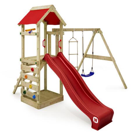Beliebt Spielturm FreeFlyer Klettergerüst mit Schaukel, Sandkasten ET49