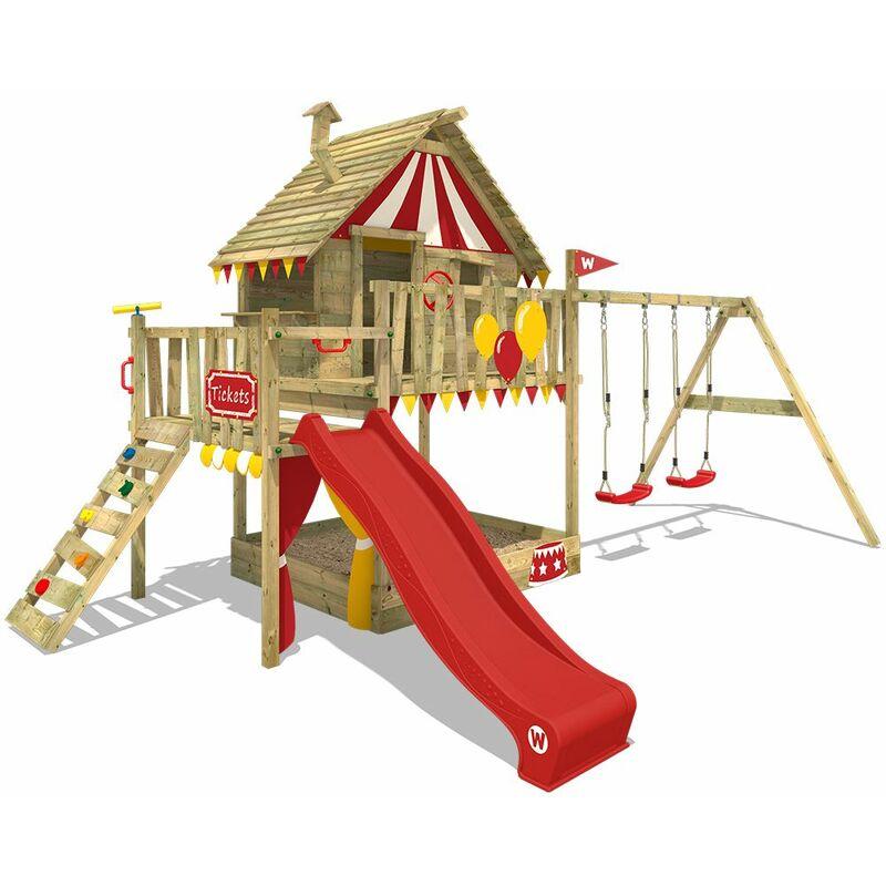 Bevorzugt Spielturm Smart Trip Stelzenhaus Klettergerüst Baumhaus aus Holz KB99