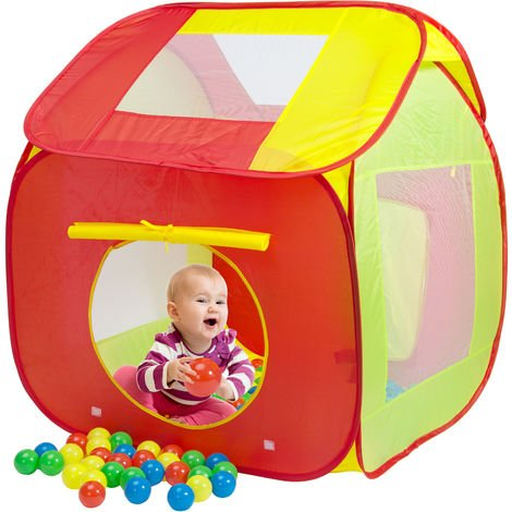 Spielwerk Kids Ball Pit with 200 Balls Toddler Baby Playhouse Playing Playpen Pool Indoor Outdoor Toys Gift Children