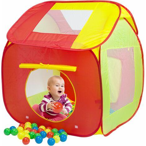 Spielwerk Tienda de campaña piscina de pelotas infantil con 200 pelotas para interior exterior casa juegos al aire libre
