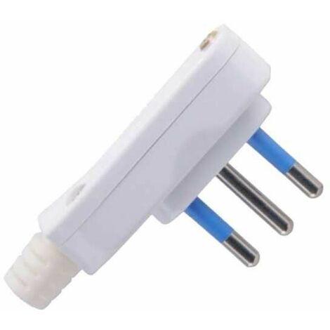 per cavo Elettrico piccola salvaspazio Spina Elettrica piatta 10A 250V nera