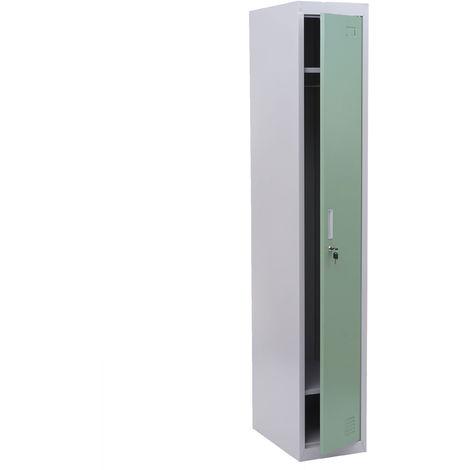 Spind Preston T163, Garderobenschrank Kleiderspind Umkleideschrank, Metall 180x30x50cm nach ASR A4.1