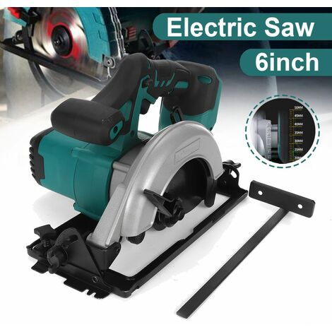 [Spindle size 6 inch 152 mm] Electric Circular Saw Handle Power Tools Cutting Machine 50 ¡ã Electric Circular Saw Woodworking Saw Lithium Electric