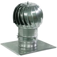 Spinning Chimney Cowl Aluminum Flue Ventilation with Extra Roof Plate 300mm