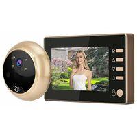 """Spioncino digitale elettronico porta campanello telecamera schermo LCD 4.3"""" W10"""