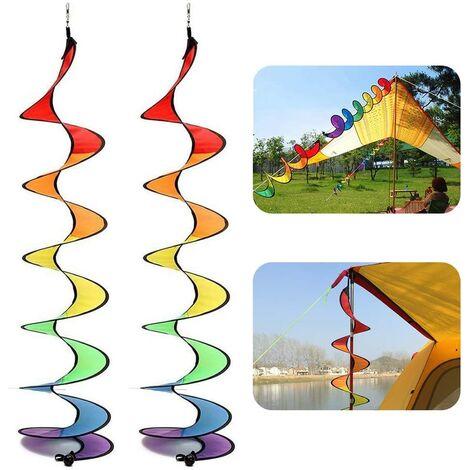 Spiral Windmill, Colorful Spiral Weather Vane Windmill Serpentine Camping Tent Garden Decoration