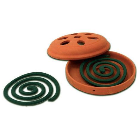 3 x Esschert Citronella spirales terre cuite anti moustiques protection contre les insectes Défense