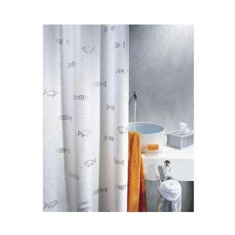Spirella 10 01008 Tenda Per Doccia Tessuto Polyestere Pesci