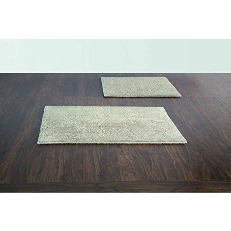 Spirella 10.18026 tapis de bain et tapis contour wC sans découpe serena 55 x 65 cm-gris