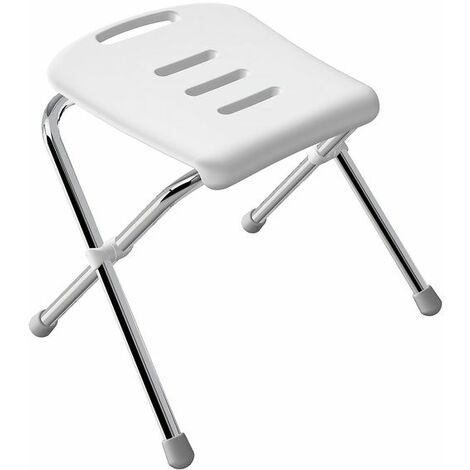 Spirella Chaise pliante rabattable de bain Chrome - Chrome