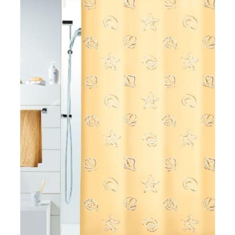 180 x 200 cm Spirella Textil Alina Grey 180x200 cm Duschvorhang Stoff grau-pink