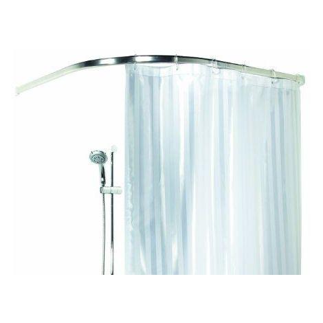 Spirella Ova Tringle arrondie pour rideau de douche Aluminium brillant Blanc Longueur 90 x 90 cm / paisseur 30 x 17 mm Import Grande Bretagne