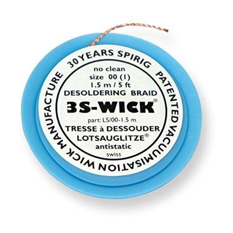 SPIRIG WICK0.8-1.5 3S-WICK BOBINE DE TRESSE À DESSOUDER ANTISTATIQUE 0,8 MMX1,5M