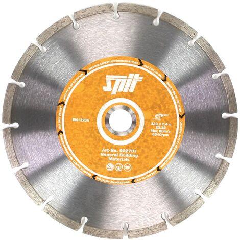 Spit Disque à tronçonner diamanté humide et sec 230 x 22,23 mm, pour béton, pierre et tuyaux en fonte (922707 )