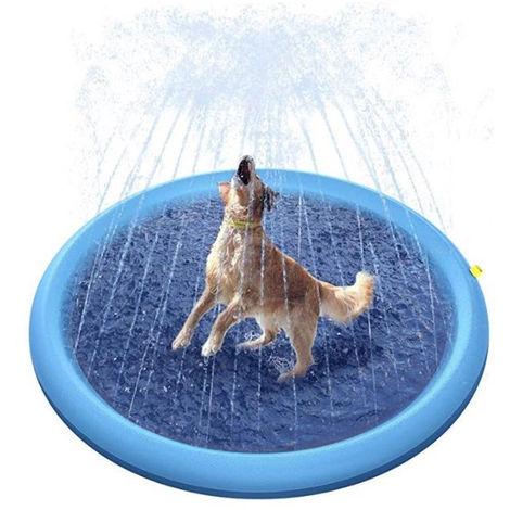 Splash Pad for Toddlers, Inflatable Sprinkler Pad for Kids, Slip Slide Paddling Pool, Water Play Mat Outdoor Toys for Kids 4-12