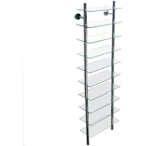 SPLASH - Wall Mounted Glass Bathroom Storage Shelves - Clear