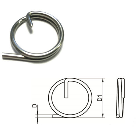 """main image of """"Split Cotter Ring T316 (A4) Marine grade stainless steel 1.25 x 15 mm"""""""
