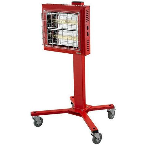 SPLUS - Radiant électrique Quartz 1500/3000 W Mono 230V sur roues - REH 3000 M