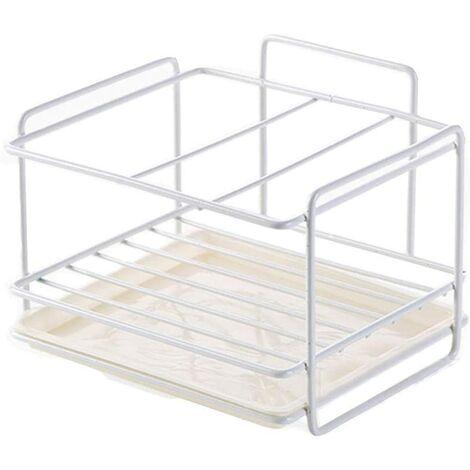 Sponge Holder Kitchen Sink Storage Sponge Holder Iron Basket Utensil Holder Cleaning Cloth and Brushes Dish Liquid Holder Soap Tray