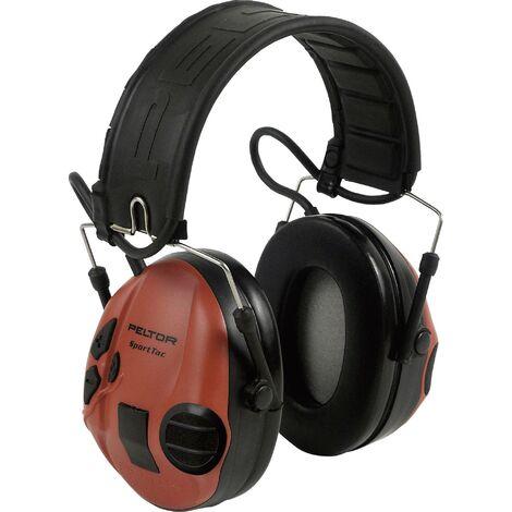 Sportac Casque Peltor Anti Bruit Actif Spécial Chasse, SNR 26 dB, Orange